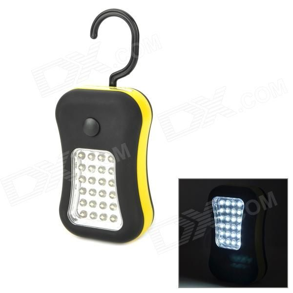 Quantity: 1; Color: Black + yellow; Material: Rubber; Functions: For outdoor repairing, camping; Bulb Type: LED; Lantern Type: Electric; Best use: Multi-functional; Other Features: Powered by 3 x AAA batteries (not included); Great for outdoor camping and repairing operation; Packing List: 1 x LED light; http://j.mp/1ljUlmm