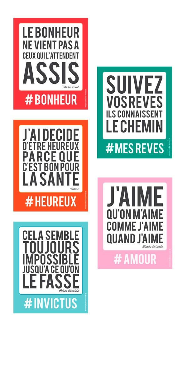 5 stickers sur la #motivation #bonheur #rêves