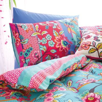 Accessorize Blue & Pink Fable Folksy Duvet Cover Set at