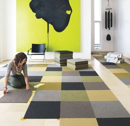 I Like The Multi Colored Square Carpet Tile Idea For A Boys Room