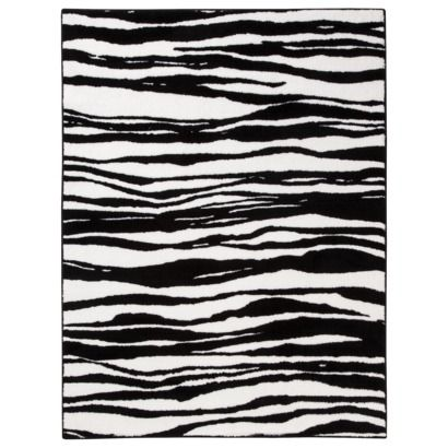 Xhilaration® Zebra Rug at Target this is the one Alli picked and wants.