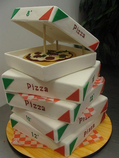 "Pizza Cake!  A great ""celebration"" cake....birthday, graduation, etc.  I think ""teens"" would really appreciate this cake!"