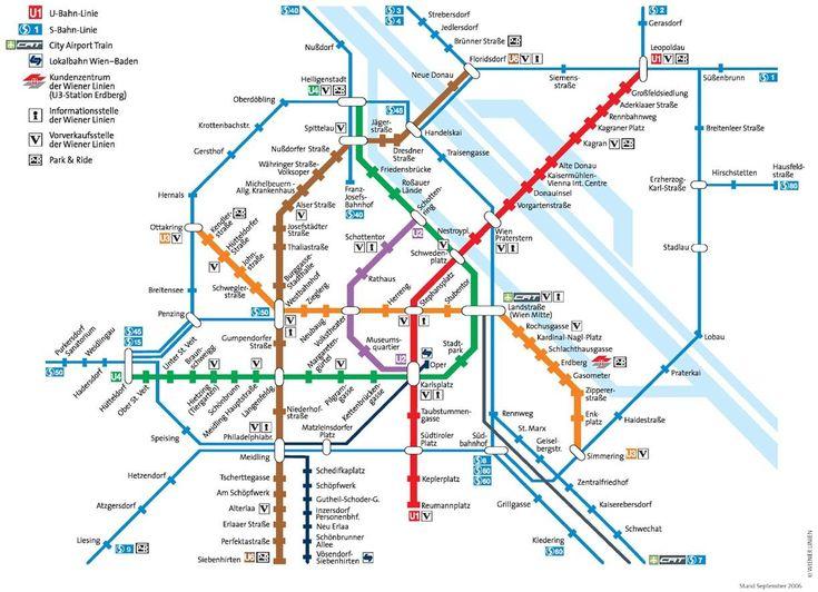 Vienna Metro Map - Vienna • mappery