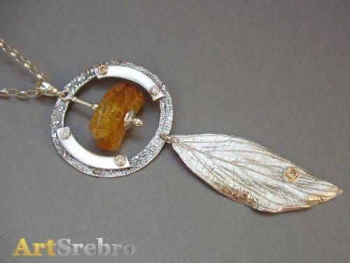 biżuteria - naszyjnik z cytrynem 109, zł