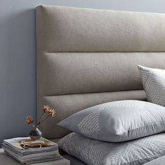 Panel tufted headboard West Elm USA Love this modern update to the tufted headboard. Top Ten: Best Upholstered Fabric Headboards — Annual Guide 2014
