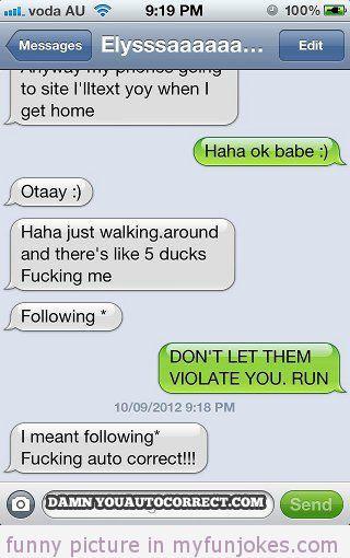 Autocorrect fail 5 ducks funny foto  in http://www.myfunjokes.com/other-funny/autocorrect-fail-5-ducks-funny-foto/