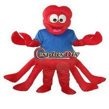 top heißer verkauf qualität plüsch seltsam in maskottchen kostüm rot klaue