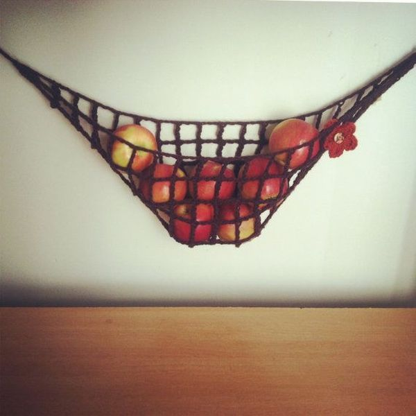 Our New Obsession – Hanging Fruit Baskets - Hammock on Wall