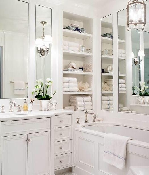 pure white bathroom