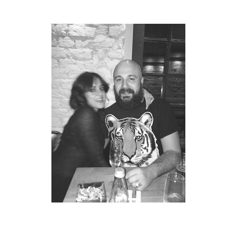 Irina Marinescu, Romanian designer, http://irinamarinescu.com & her partner, BOGMAN, multi task artist - DJ, chef and events creator. January 1st, 2015, New Years Eve, Alt Shift, Bucharest