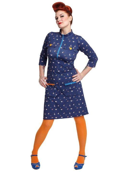 Margot kjole DONNA DRINKWATER no 745   dansk design med kant