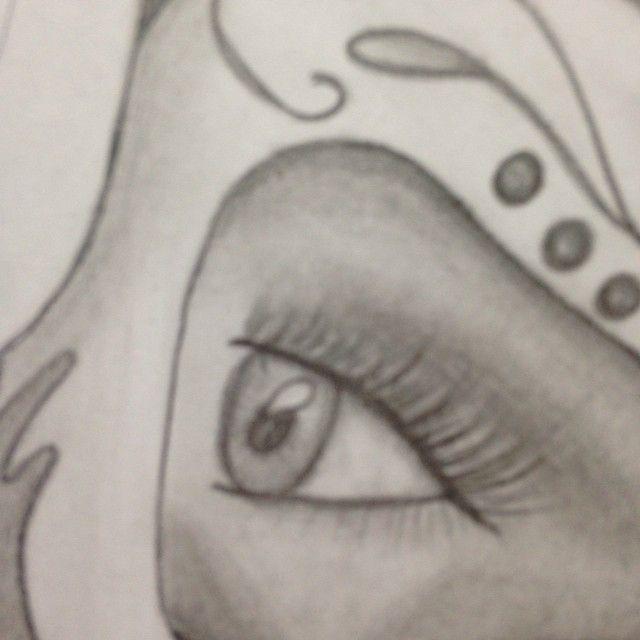 Sneak peak of my new drawing ✏️ #lookkristina