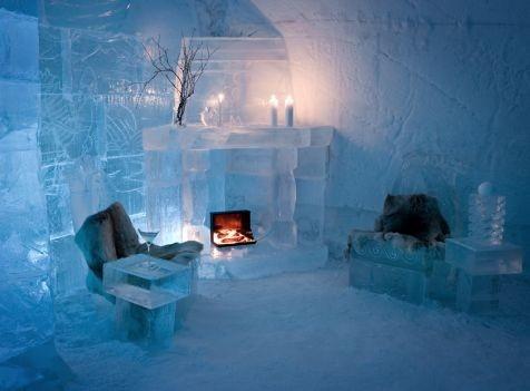 Overnachten in een ijshotel; koud maar sprookjesachtig