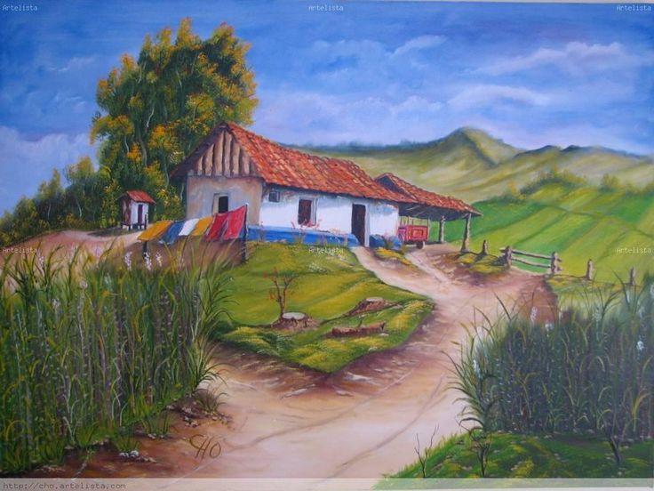 Cuadros de casas de campo gallery of casa unifamiliar en - Cuadros de casas de campo ...