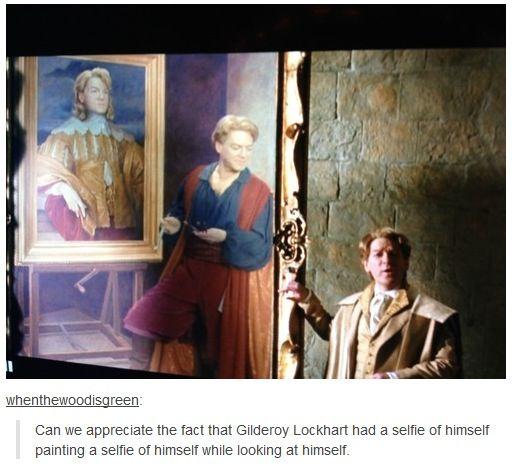 Gilderoy Lockhart's selfie inception