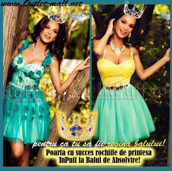 Poarta cu succes rochiile de printesa InPuff la Balul de Absolvire!