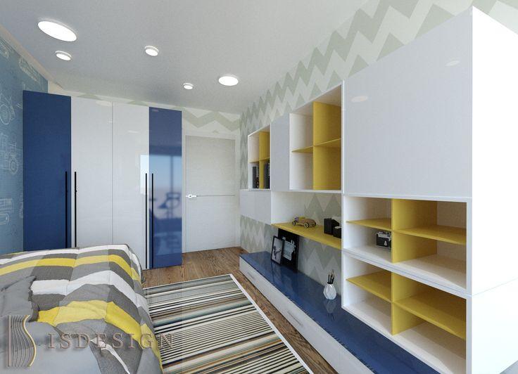 Детская комната - Дизайн проект интерьера квартиры 3+kk в Резиденции River watch, Прага, Чехия. Квартира в современном стиле для молодой семьи. Архитектор – дизайнер Инна Войтенко.