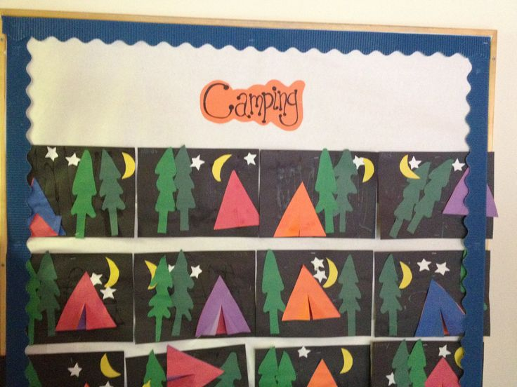 Camping Bulletin Board Bulletin Boards Pinterest