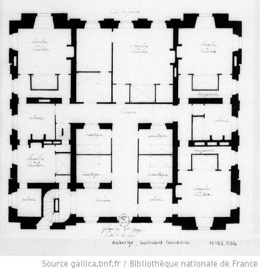 Plan du 2.ème étage [d'une auberge Boulevard Cauchoise, à Rouen] : [dessin] / [Jean-Jacques Lequeu]