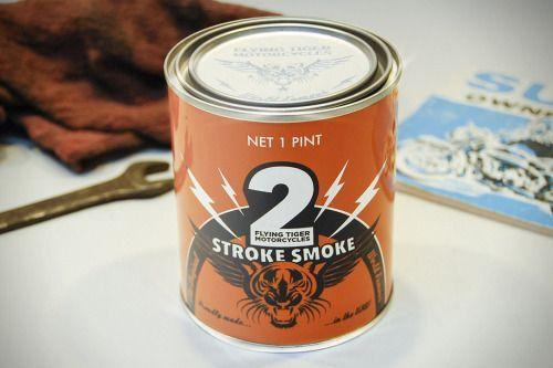 2 Stroke Smoke Scented Motorcycle Candle | Candle smoke ...