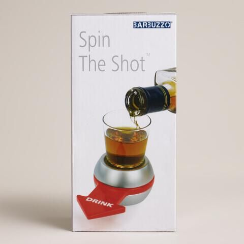 """Our Spin-the-Shot Drinking Game is a fun new way to liven up any party. This kisses-optional take on classic spin-the-bottle is a great drinking game, or put a new """"spin"""" on it by inventing your own rules."""
