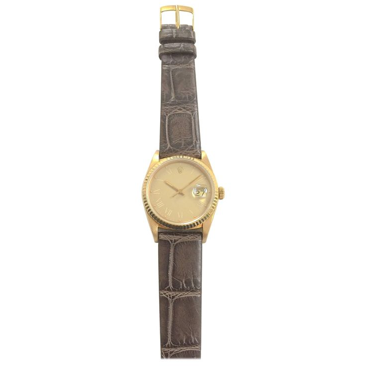 Rolex Yellow Gold Oyster Perpetual Datejust Automatic Wristwatch, 1980s