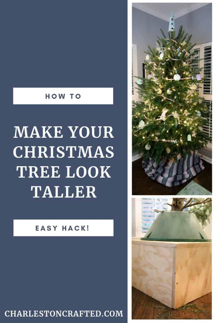 How To Make Your Christmas Tree Look Taller Christmas Tree Base Christmas Tree Box How To Make Christmas Tree