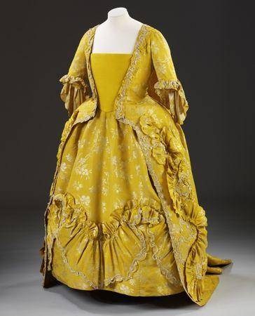 Платье САК-БЭК с нижней юбкой Британия, 1760 - 1765 гг.: