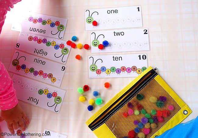 Counting Caterpillar Busy Bag (Printable Numbers 1-10) | Powerful Mothering