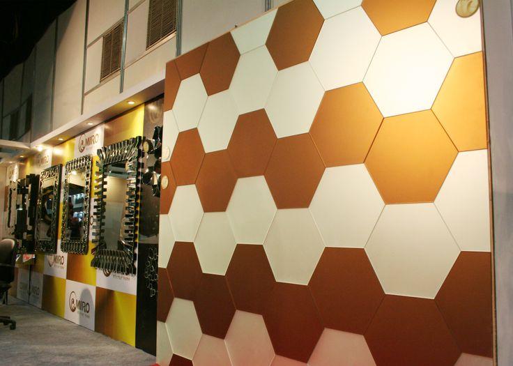 hexagon bronze n silver tiles
