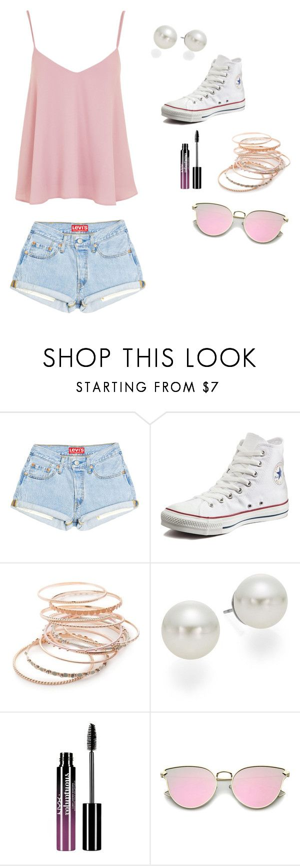 """Mall Outfit"" by pcola850 on Polyvore featuring Converse, Red Camel, AK Anne Klein, Charlotte Russe and Topshop"