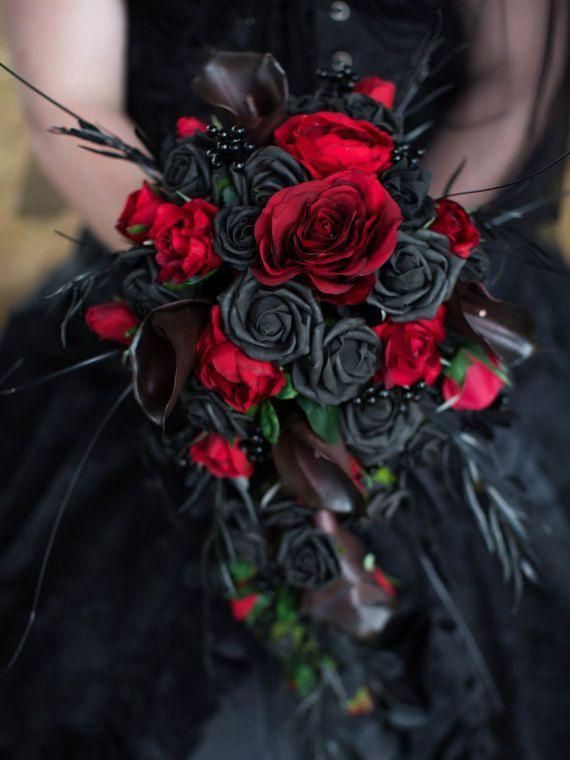 Gotische Braut-Bouquet/Hochzeitsblumen nach Ihren Entwürfen gemacht Fotos sind Beispiele! Sie sind maßgeschneidert. Ich sage mir, um Ihre Ideen zu besprechen