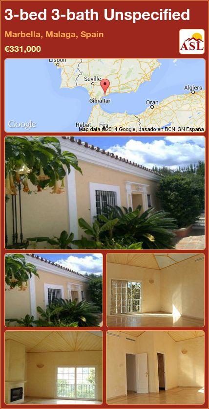 3-bed 3-bath Unspecified in Marbella, Malaga, Spain ►€331,000 #PropertyForSaleInSpain