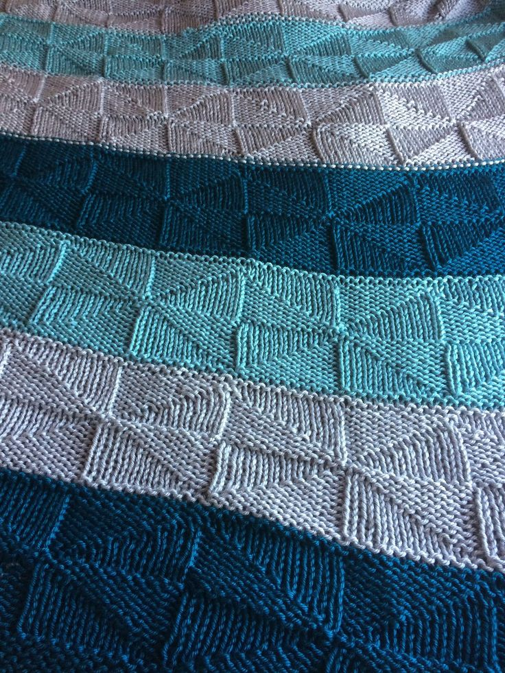 Free Knitting Pattern for Reversible Windmill Blanket