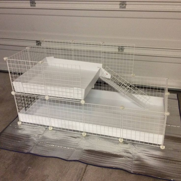 """2x4 bottom 2x2 top CC Guinea Pig Cage 14""""x14"""" Wire Grid Panel Cage with Corrugated Plastic Rabbit Hedgehog 4 Panels Long 2 Panels Wide by LilFroggyDesigns on Etsy https://www.etsy.com/listing/481254643/2x4-bottom-2x2-top-cc-guinea-pig-cage"""