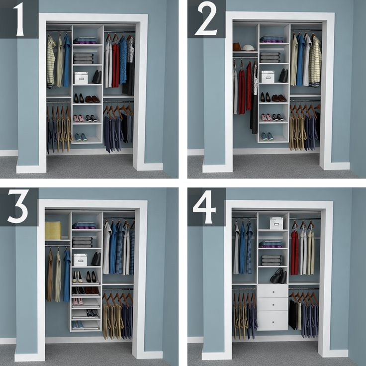 reach in closet design ideas 6 foot closet