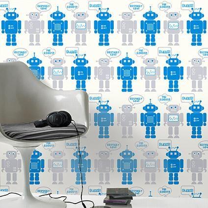 Be You kinderbehang dessin met robots | Praxis