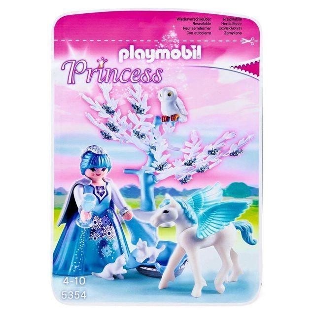 playmobil princess princesse hiver avec poulain ail blanc pla5354 playmobil