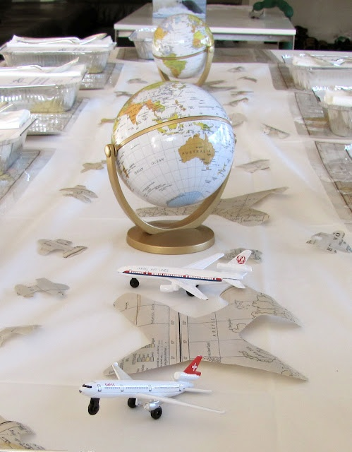 Great ideas from a vintage plane party, via minimocha