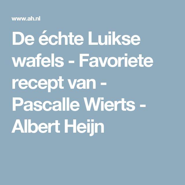 De échte Luikse wafels - Favoriete recept van - Pascalle Wierts - Albert Heijn