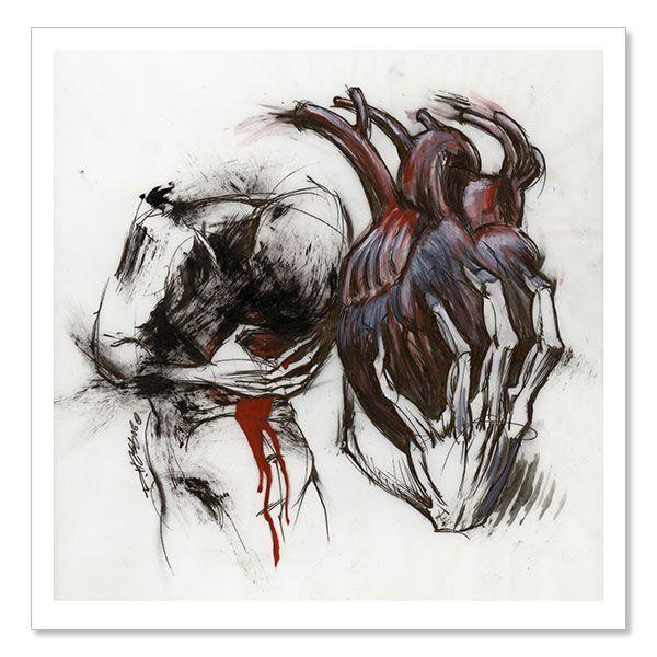 "Derek Hess ""Untitled 21"" Giclees at https://www.indiemerch.com/derekhess/"