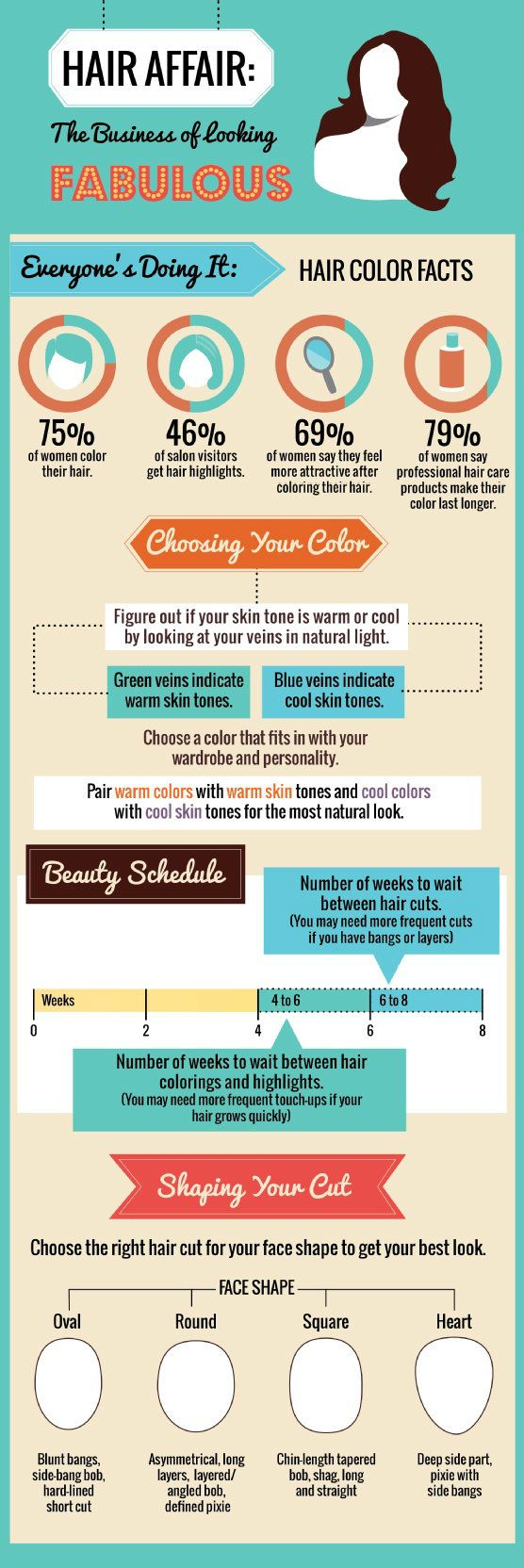 It's A Hair Affair [INFOGRAPHIC] Awesome facts about hair color, the salon, and how to keep your clients looking good!