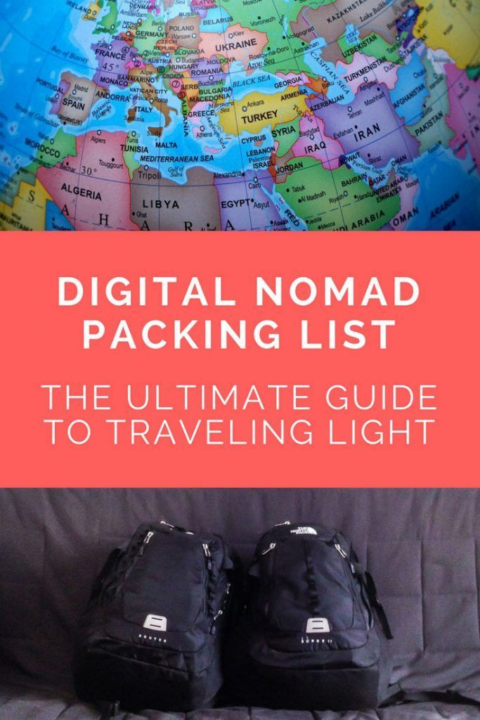 Digital Nomad Packing List: The Ultimate Guide. Click here to read more!
