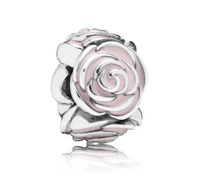 Pandora Pink Rose Charm 791291EN40 at John Greed Jewellery