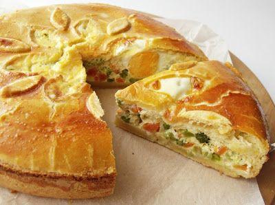 Citromhab: Zöldséges pite