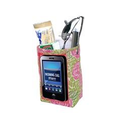 Designer Car Pockets - Mia Lime/Pink