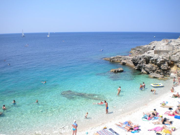 Verudela beach, Pula, Croatia. One of the many beaches on