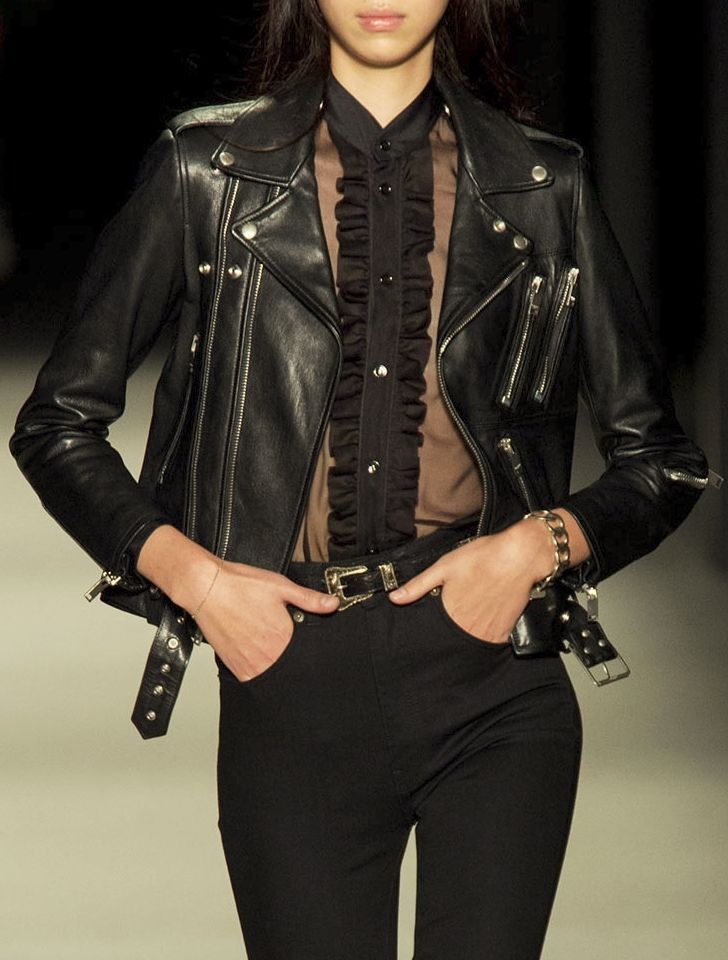 This jacket though...Saint Laurent spring 2014 #leather #fashion