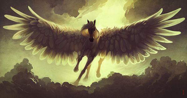 Pegasus.  http://www.cuded.com/2013/06/40-mind-blowing-fantasy-creatures/