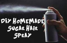 DIY Homemade Sugar Hair Spray Store bought hair spray can be so rough on your hair. I try and limit my use as much as possible, but I also need some extra help with keeping my long heavy hair to stay curled all day long! Here is a recipe for making your very own all natural hair spray that will give you an all-day natural...  Read More at http://www.chelseacrockett.com/wp/diy-2/diy-homemade-sugar-hair-spray/.  Tags: #Diy, #DiyHairSpray, #DiySugarHairSpray, #NaturalHairSp
